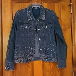❤3/$25❤ Simply gorgeous sparkly jean jacket